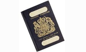 An old-style British passport.