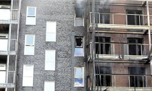 Fire at Barking flats