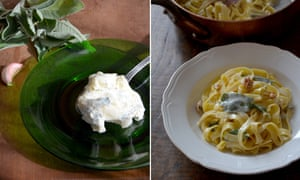 Resistance is futile: Rachel Roddy's tagliatelle with gorgonzola.
