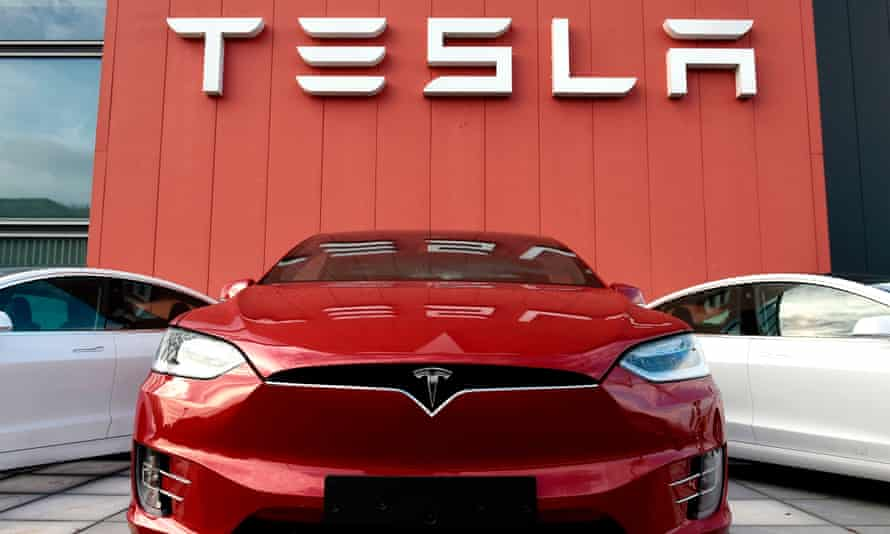 The Tesla showroom and service center in Amsterdam on October 23, 2019