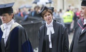 The vice-chancellor of Oxford University, Prof Louise Richardson, compared her pay with that of bankers.