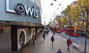 John Lewis store on London's Oxford Street at 8am on Black Friday