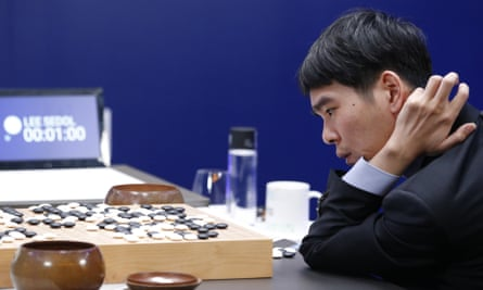 South Korean professional Go player Lee Sedol after finishing the fourth match of the Google DeepMind Challenge Match.