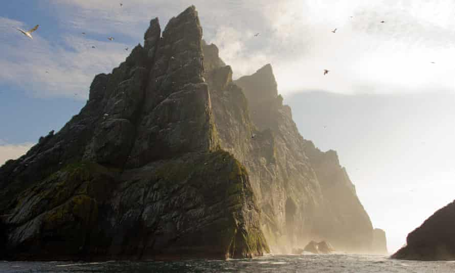 Geraldine McCaughrean's Where the World Ends follows a group of boys abandoned on a sea stack off St Kilda.