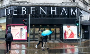 A Debenhams store in Manchester on Saturday