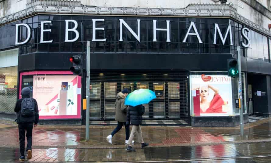 A Debenhams store in Manchester on 28 November.