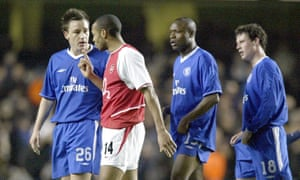 Chelsea beat Arsenal in the Champions League quarter-finals in 2004.