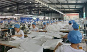 Many clothing factories in Dandong have switched to producing PPE during the pandemic.