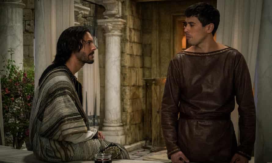 Lovers no more ... Jack Huston as Judah Ben-Hur, left, and Toby Kebbell as Messala Severus in the remake of Ben-Hur.
