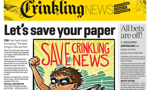 A recent copy of Crinkling News