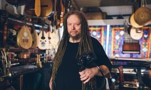 Computer scientist and musician Jaron Lanier at his home in Berkeley, California.