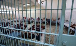 Inmates at Borg el-Arab prison