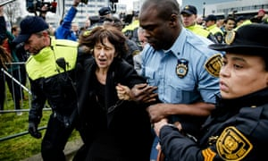 Florence Hartmann, the former Le Monde reporter and spokeswoman of the international criminal tribunal for former Yugoslavia, is arrested in The Hague.