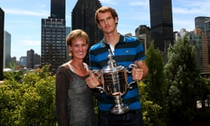 Judy Murray with Andy