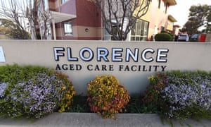 Florence Aged Care Facility in Melbourne, Australia. The Victorian government has taken over three aged care facilities following coronavirus outbreaks.