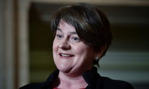 The DUP leader, Arlene Foster