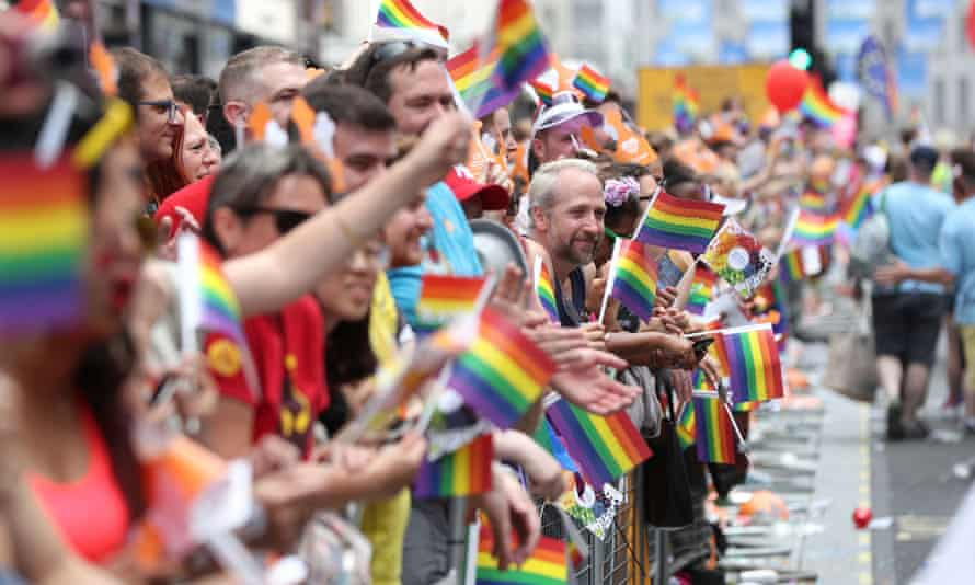 Crowds at last year's Pride in London parade