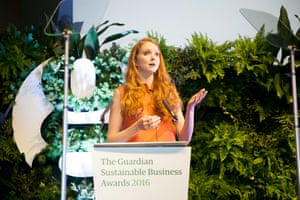 Lily Cole opened the awards ceremony by talking about the importance of social business and announced that her social enterprise, Impossible, has recently achieved B Corporation status.