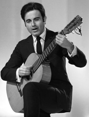 Guy Béart with guitar