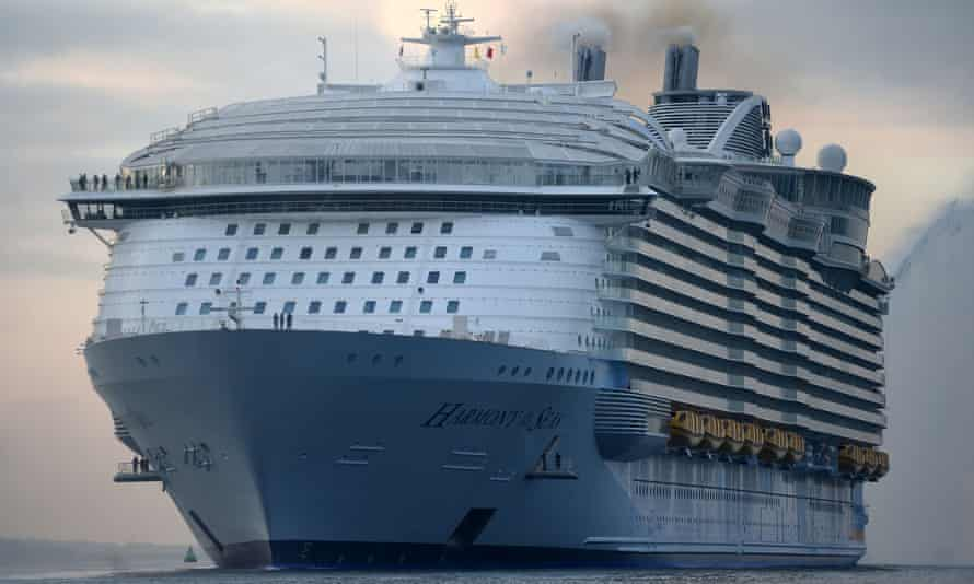 Cruise ships, like this one from Royal Caribbean, are navigated by GPS, which relies on 24 satellites orbiting the Earth.