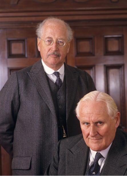 Bernard Hepton, left, and Peter Vaughan in the ITV drama Dandelion Dead, 1994.