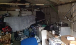 The type of accommodation known as 'beds in sheds', in Brent, north-west London.