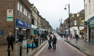 Shopping street in Bishop Auckland