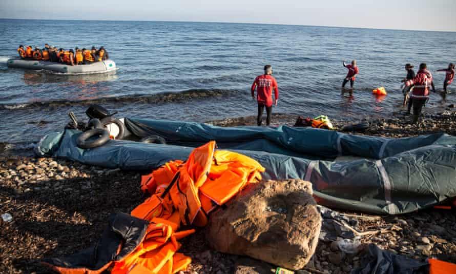 Boat approaching Greece