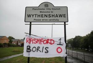Marcus Rashford support in Wythenshawe