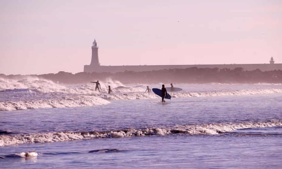 Tynemouth surfing