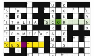 Two players collaborate on a Guardian cryptic crossword set by Qaos