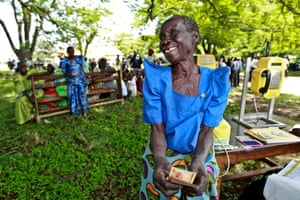 Uganda woman with cash transfer