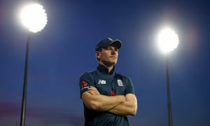 England captain Eoin Morgan during the third ODI against Pakistan.