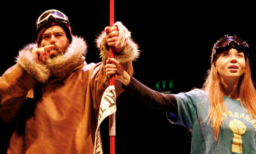 Dean Nolan and Emily Hughes in Nick Bagnall's revival of The Conquest of the South Pole.