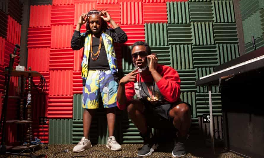 'People have subtle ways of saying you should fall in line' … Shabazz Palaces in their Seattle studio.