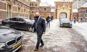 Outgoing Minister Ferd Grapperhaus (Justice and Security) arrives for the consultation of the Ministerial Committee COVID-19 (MCC-19) about the extension of the curfew and tackling the corona virus in the Hague, Netherlands, 08 February 2021.
