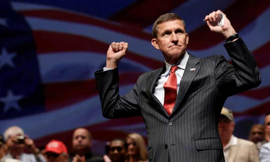 Michael Flynn at a Trump campaign event in 2016.