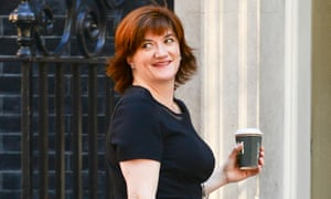 Nicky Morgan arrives at Downing street in June 2015