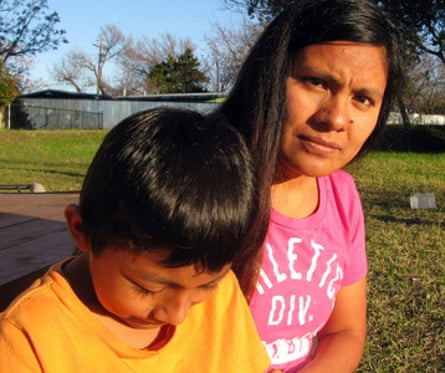 Hilda Ramírez and her son, Ivan: 'We came to the US for a chance for a better life.'