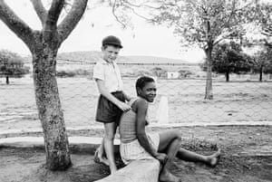 A Farmer's Son with his Nursemaid, Heimweeberg, Nietverdiend, Western Transvaal, from the series Some Afrikaners Photographed, 1964