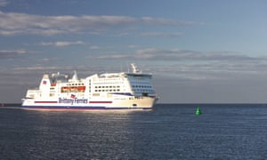 A Brittany Ferries vessel in Normandy.