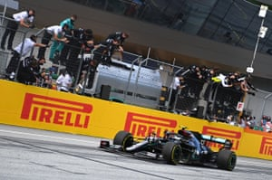 Hamilton wins the race.
