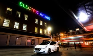 The Nissan Leaf on Electric Avenue in Brixton, south London