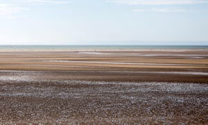 Low tide at Swansea beach, which has a 10-metre tide. The lagoon is the first large-scale attempt in Great Britain to harness the power of the tides.