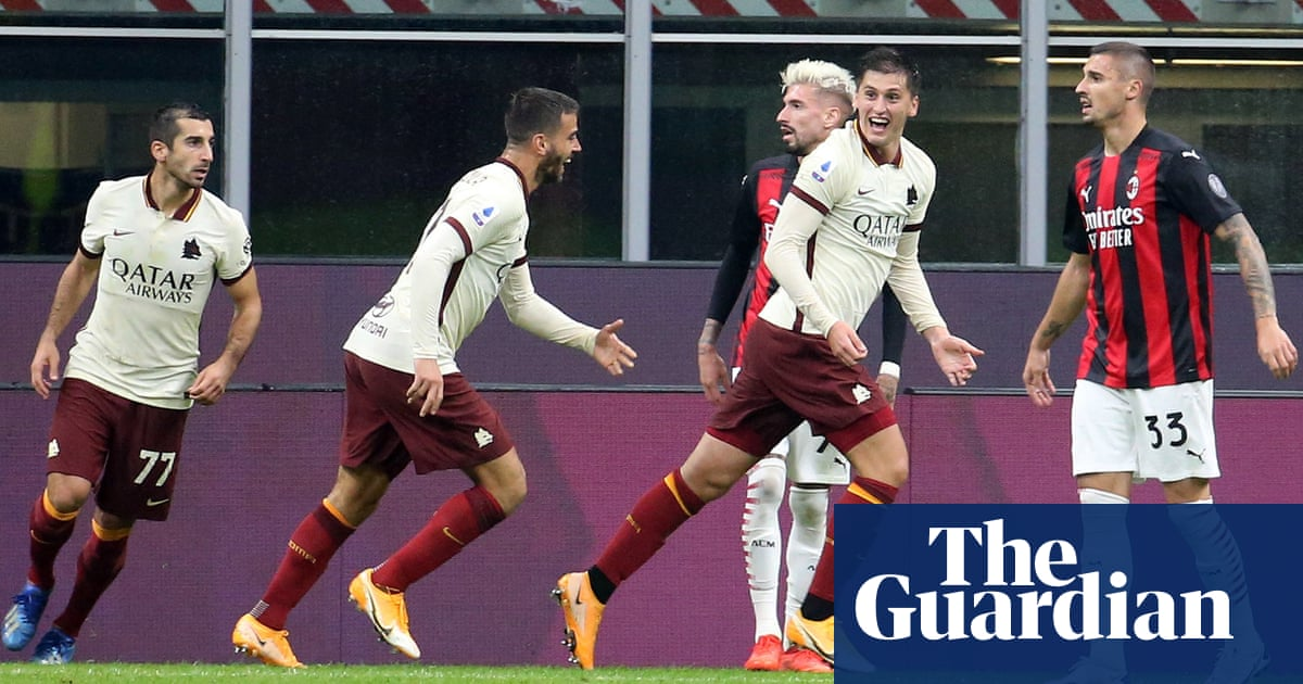 Leaders Milan drop first points after being pegged back by Roma in thriller