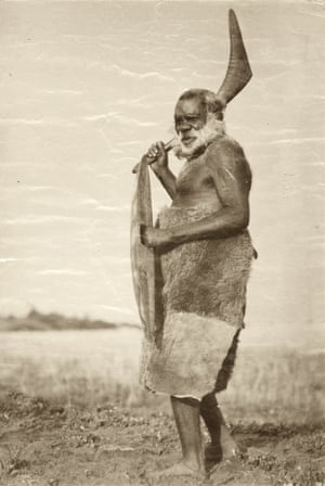 The attached image shows Aboriginal people who may have died, which may cause sadness and distress to their relatives. King Tommy Walker, full-blood Aboriginal.