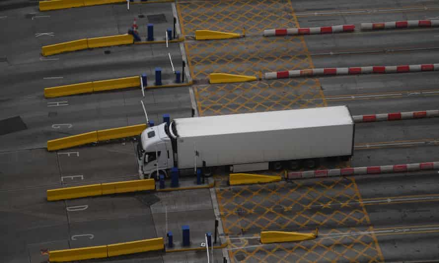 A lorry at the port of Dover