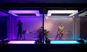 Shyvonne Ahmmad and Nicholas Ralph in by Hannah Khalil's Metaverse, part of National Theatre of Scotland's Interference trilogy.