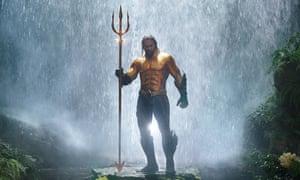 Making a splash … Aquaman.