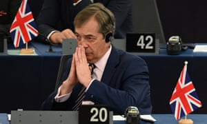 Nigel Farage in the European parliament
